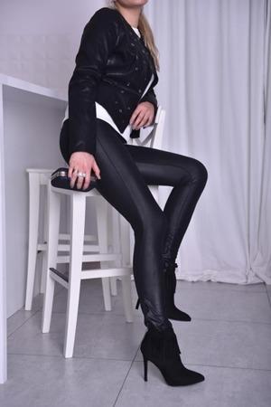 Ramoneska damska czarna kółka