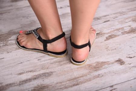 Sandały japonki damskie czarne diamenciki