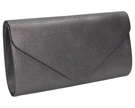 Stalowa torebka kopertówka