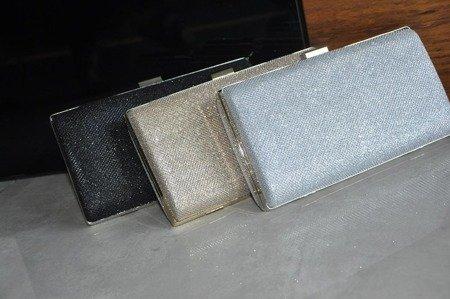 Torebka kopertówka czarna puzderko