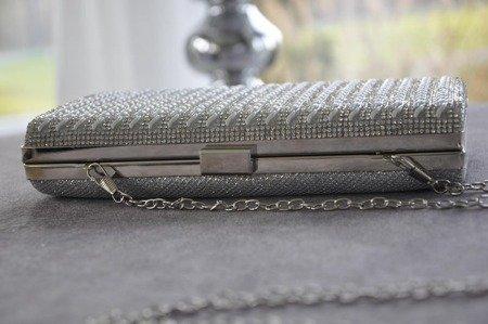 Torebka kopertówka srebrna puzderko